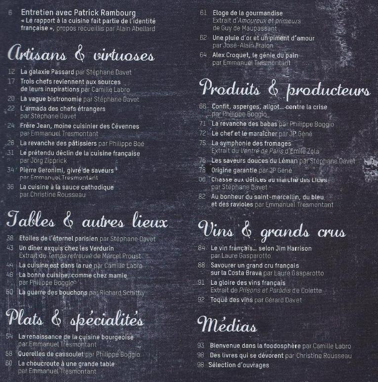 Sommaire Le Monde A Table août 2013