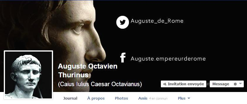 Auguste Facebook et Tweeter