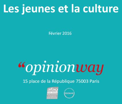 Première de couv. Enquête Jeunes et Culture fev.2016