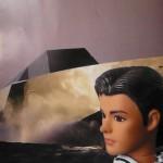 Ken attend Laurence et Marie devant son Wally