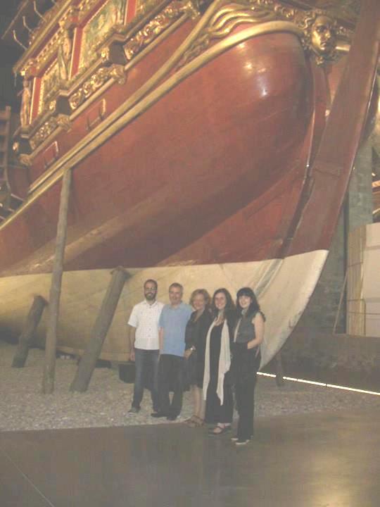 Pose-Photo dans le Musée Maritime!