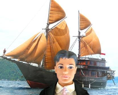 Ken et son petit voilier