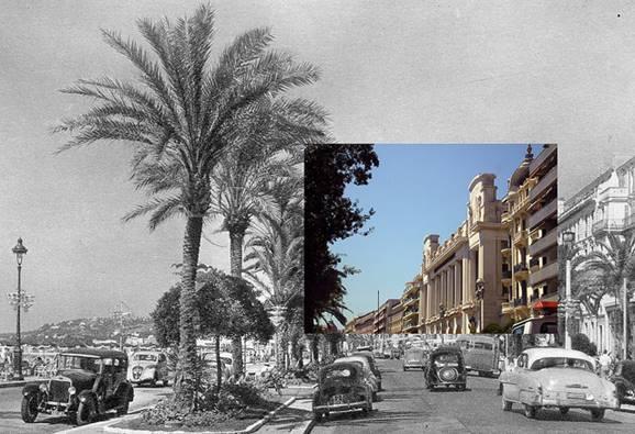 Avant/après, la Promenade des Anglais(Nice)