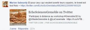 EchoSciences Grenoble Twitter